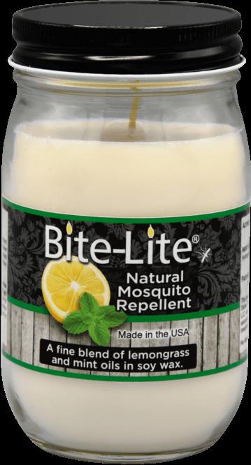 NATURAL Mosquito Repellent Premium Soy Wax Pint Jar Candle