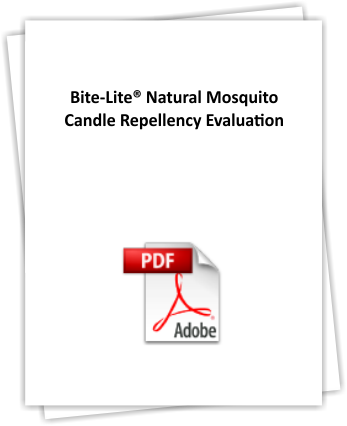 Repellency study that proved that our natural mosquito repellent formula was effective in repelling mosquitoes.